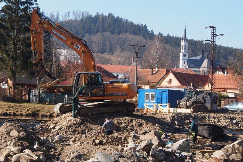 Rekonstrukce jezu U Bílého mlýna ve Vyšším Brodě
